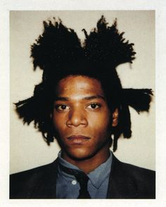 Polaroid of Jean-MIchel Basquiat by Andy Warhol