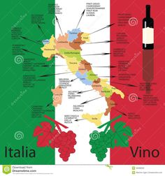 italy wine region map - Google Search