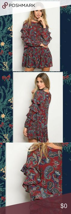 I just added this listing on Poshmark: 😘Burgundy Paisley Print Dress. #shopmycloset #poshmark #fashion #shopping #style #forsale #Very J #Dresses & Skirts