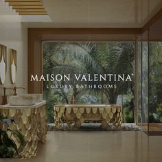 Maison Valentina is a luxury brand specialized in high-end bathroom furniture. Luxury Interior, Modern Interior Design, Contemporary Design, Fall Bedroom Decor, Home Decor, Modern Hotel Lobby, Hotel Room Design, Barn Wood Crafts, Dinning Chairs
