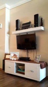 mueble de tv con ruedas