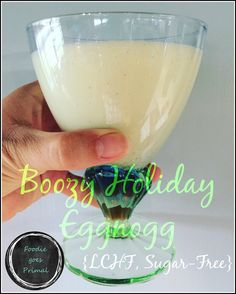 Boozy Holiday Eggnog {LCHF & Sugar-Free}