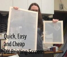 Woodworking Program Picture of Quick, Cheap and Easy Screen Printing Frames - Screen printing is great fun. But it can be so expensive! When we saw the price of frames and screens, we were kind of shocked. Our makerspace is young and money . Screen Printing Frame, Screen Printing Shirts, Screen Printer, Diy T Shirt Printing, Inkscape Tutorials, Impression Textile, Screen Design, Maker, Shibori