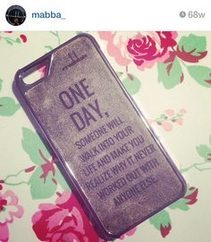 """ONE DAY someone will walk into your life and you'll realize why it never worked with anyone else"" LOVE QUOTE Smartphone case - sample is made for the iPhone 5/5S and iPhone 4/4S - for more smartphones check our online shop at www.mabba-shop.de  Handgemacht aus echtem Leder! Case ist für das iPhone für andere Smartphones schaut mal in unseren online Shop rein! <3"