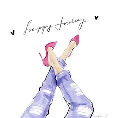 Happy Friday #tanyachulkova #fashion #fashionillustration #illustration…