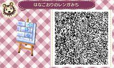 Animal Crossing QR Code blog Blue flower Ice Path Tile#9 Lower Right Corner