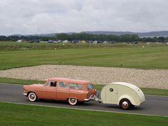 Ford Zephyr and classic caravan  //  jane_sanders