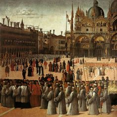 Gentile Bellini Procession of the True Cross. Processione della Vera Croce a Piazza San Marco a Venezia detail, Accademia of Venice. tempera and oil on canvas, Renaissance Artists, Italian Renaissance, Web Gallery Of Art, Chef D Oeuvre, Oil Painting Reproductions, Hand Painting Art, Chapelle, Les Oeuvres, Art History