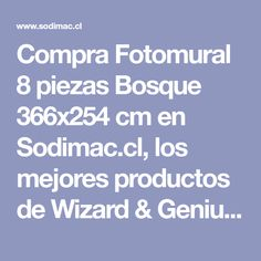 Compra Fotomural 8 piezas Bosque 366x254 cm en Sodimac.cl, los mejores productos de Wizard & Genius - 3355438. Shopping, Woods, Tents, Index Cards, Get Well Soon, Products, Crates, Paper Envelopes