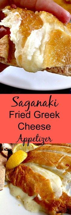 3 INGREDIENT Saganaki Fried Greek Cheese Appetizer whips up in under 10 minutes! Warm, creamy cheese with a lightly toasted coating and bright lemony flavor. Opa!