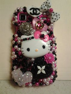 Girl cell phone strip the