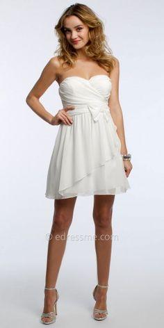 0985223f6f4 Strapless Chiffon Tiered Cocktail Dress by Camille La Vie  edressme  Extravagant Wedding Dresses