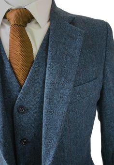 54 Ideas Wedding Suits Men Tweed Outfit For 2019 Fashion Mode, Suit Fashion, Look Fashion, Mens Fashion, Fashion 2016, Fashion Clothes, Tweed Suits, Mens Suits, Blue Tweed Suit