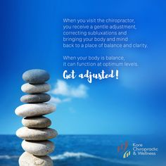 When you visit the #chiropractor, you receive a gentle 👐 #adjustment, correcting #subluxations and bringing your body and mind back to a place of balance and clarity. When your body is #balance, it can function at optimum levels. 💆 #GetAdjusted! First Health, Chiropractic Wellness, Health Center, Health Problems, Nervous System, Clarity, Health Care, Bring It On