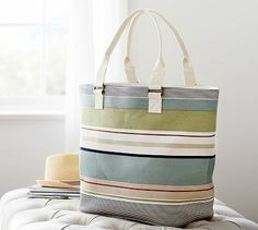 Campbell Stripe Tote Bag #potterybarn