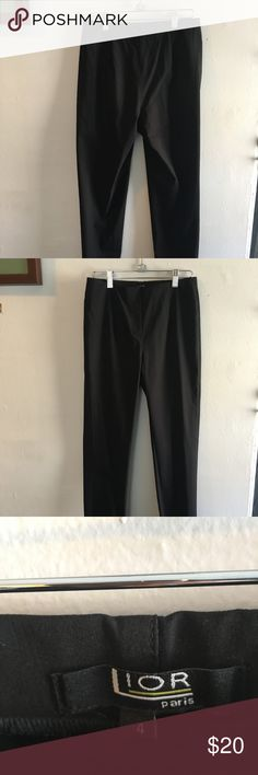 Lior Paris Stretch Legging Trousers Cute stretchy trousers with nice seaming detail on front and back.  Very Audrey-style leggings.  Slightly cropped, marked size 4. Lior Paris Pants Leggings