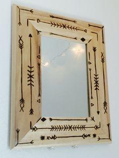 Wood Burning Mirror by EskimoStyle on Etsy