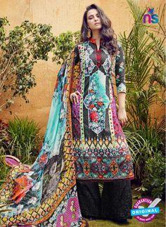 SC 12639 Multicolor and Black Pure Lawn Digital Print Plazzo Suit
