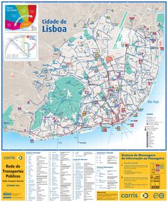 Mapa turístico de lisboa | Turismo en Portugal
