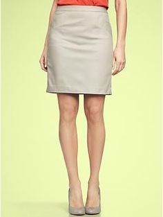 I would wear this skirt with my somewhat uncomfortable 20 dollar Payless black cloth wedges and pretty much any shirt I wear. I think i need more shirts that aren't t-shirts...Stretch pencil skirt | Gap