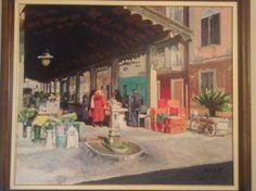 mercato Porto Recanati olio su tela, cm 100x100 euro 450 carlodotti22@gmail.com