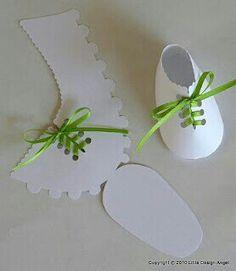 White baby shoe