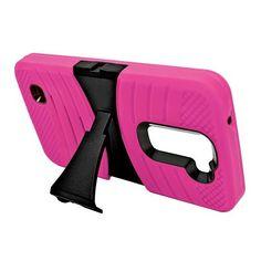 LG K7 Tribute 5 Hot Pink + Black Robotic Case