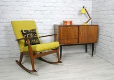 Vintage 1960s restored Parker Knoll rocking chair & 1950s cabinet.  http://www.ebay.co.uk/itm/RETRO-VINTAGE-PARKER-KNOLL-MIDCENTURY-TEAK-ROCKING-NURSING-CHAIR-50s-60s-/120869753160?pt=UK_Home_Garden_LivingRoom_RockingChairs_SR&hash=item1c24661148  www.facebook.com/mustardvintage