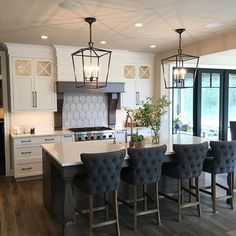 Ordinaire Loved This Kitchen By Bruce Heys Builders During My Parade Of Homes Tour! Kitchen  Island Bar StoolsKitchen Island CorbelsBlack Kitchen TablesBlack ...
