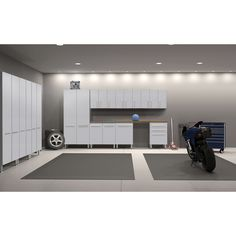 ultimate 11piece garage storage cabinets starfire pearlwhite metallic and grey multi