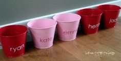 Love buckets: each day starting February first and running through February fourteenth, leave a small note in each of their buckets, writing something special about them, plus, either a small treat or gift letting them know of a fun activity planned for that day