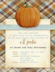 Cute for fall baby shower!