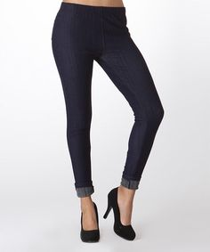 Another great find on #zulily! Dark Blue Fleece-Lined Jeggings #zulilyfinds