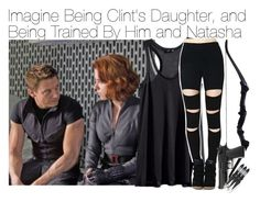"""Imagine Being Clint's Daughter, and Being Trained By Him and Natasha"" by fandomimagineshere ❤ liked on Polyvore featuring moda e H&M"