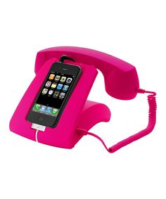 Look what I found on Pink Retro Handset Dock Transform an ordinary smartphone into a retro tabletop telephone with this sleek dock. Powered through the phone's battery, it boasts an indent on bottom for a charging cable. Phone Gadgets, Bath And Beyond Coupon, Phone Icon, Phone Covers, Diy Videos, Homescreen, Pretty In Pink, Cool Things To Buy, Iphone Cases