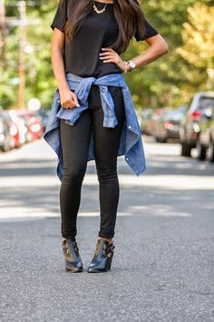 Jasmin daily {www.jasmindaily.com} - Transitioning all black from day to night - day look