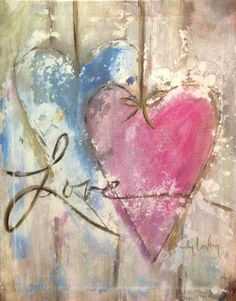 Love this painting - Painting Media Art Journal Inspiration, Painting Inspiration, Wine And Canvas, Heart Painting, Paint And Sip, Paint Party, Heart Art, Diy Art, Painting & Drawing