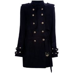 BALMAIN Trench Coat ❤ liked on Polyvore