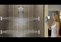 A Vertical Spa Digital Shower! #want