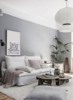"""Le canapé en lin, un """"must have"""" en décoration - Mariekke - Schwarze wände Zen Living Rooms, Home And Living, Living Room Decor, Living Room Inspiration, Interior Inspiration, Sala Zen, Home Interior, Interior Design, Zen Home Decor"""