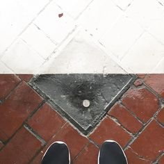 Favorite little thing about the new studio so far - there is a quarter sealed into the floor right at the entry. Feels like good luck ya know?  #ihavethisthingwithfloors #lucky #everydayinspiration #dsfloors #abmspaces #abmlittlethings #thehappynow