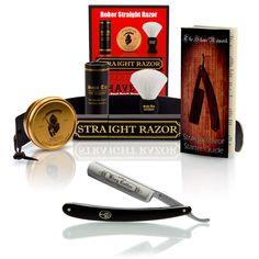 "StraightRazors.com - Böker Black ""King Cutter"", 5/8"" Carbon Steel Straight Razor With Luxury Set - Professionally Honed, (http://straightrazors.com/boker-black-king-cutter-5-8-carbon-steel-straight-razor-with-luxury-set-professionally-honed/)"