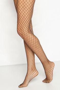 Renee Black Diamond Fishnet Tights