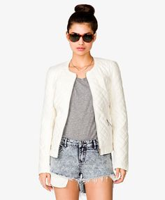 Wavy Paneled Quilted Jacket | FOREVER21 - 2031557034 $39.80