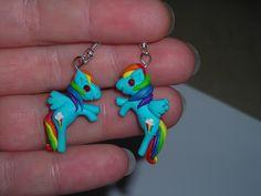 Rainbow Dash Earrings