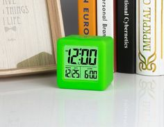 Amazon.com: Plumeet Easy Setting Travel Alarm Clock with Snooze,Soft Night Light,Cute Silicone Cover,Digital Clock Alarm Clock Radio Large Display Time & Month & Date & Alarm, Batteries Powered (Pink): Electronics