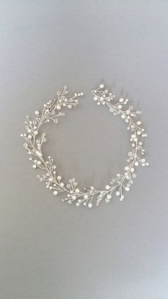 Pearl Wedding Hair Vine, Pearl Bridal Headpiece, Wedding hair piece, Wedding headpiece, Bridal Wreath, Bridal Headpiece