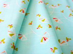 Umbrella Prints / Floating Wild Grasses in Mid-Century Blue