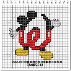 Delicado Cantinho: Monograma Mickey   W