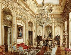 Alexander Serebryakov 'Dicle Castle, Oxfordshire. Library'